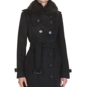 Burberry Sandringham Wool Cashmere Fox Fur Coat